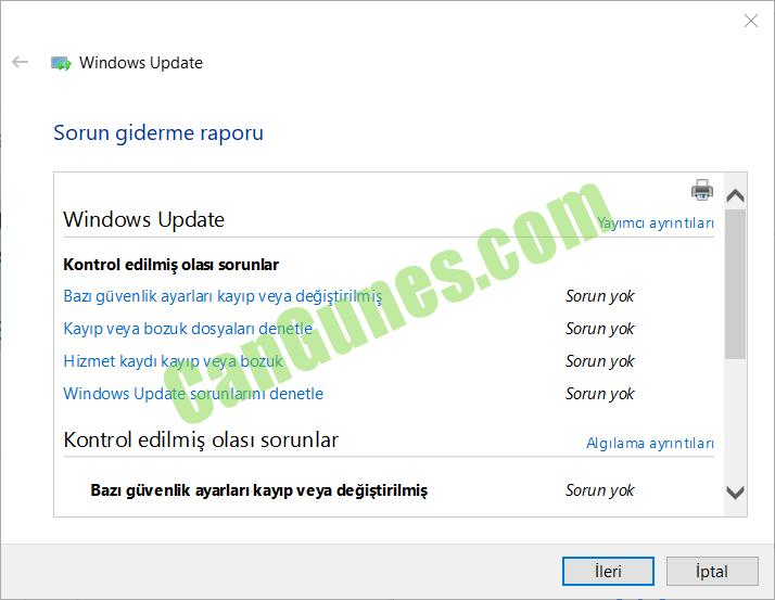Windows Update Sorun Gidericisi nasıl çalışır?