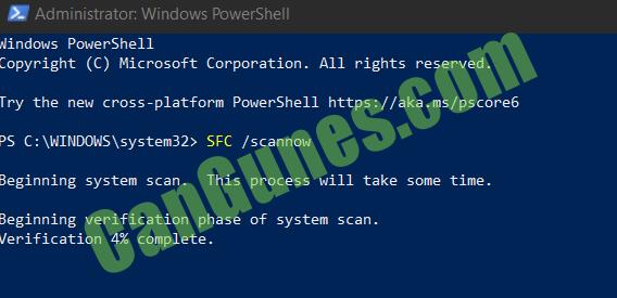 System File Checker Run Command