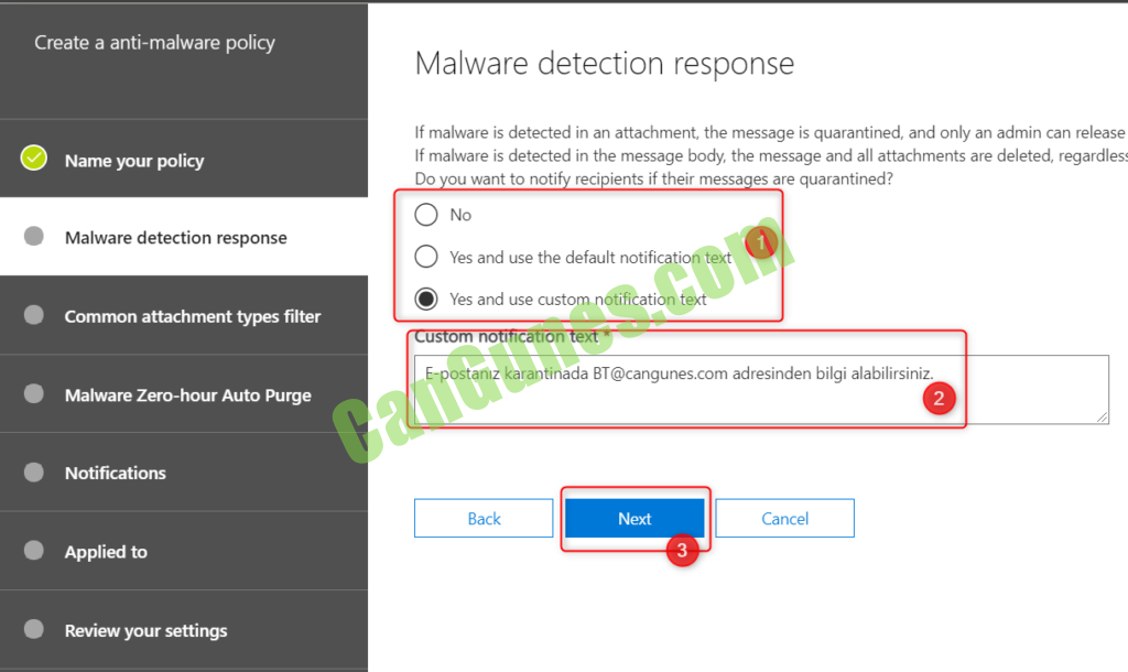 Malware detection response