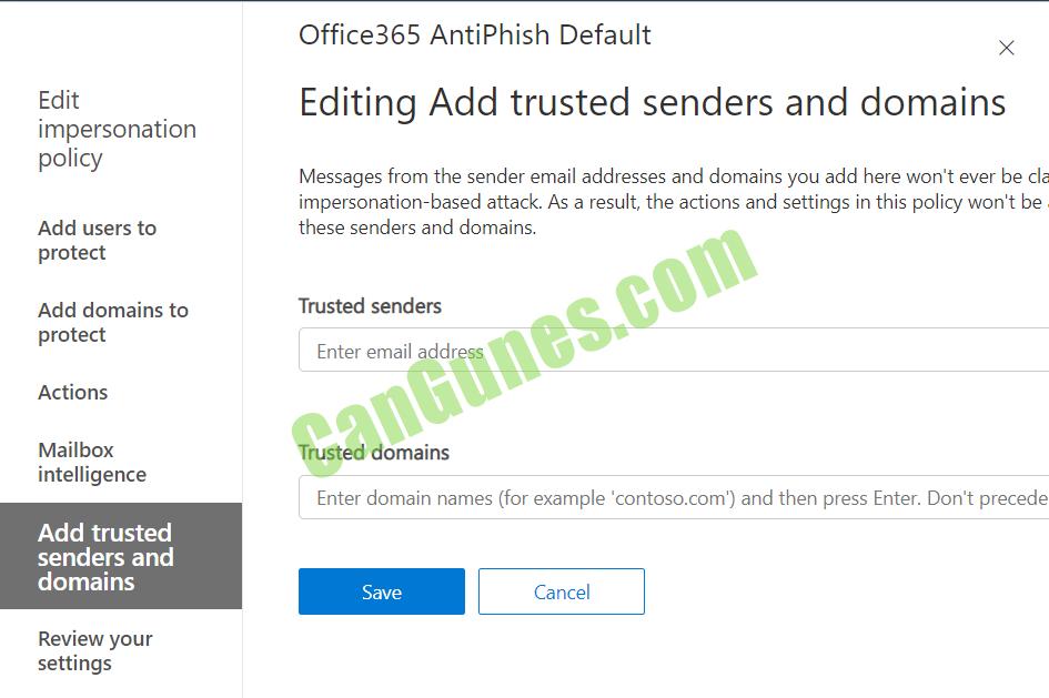 Office 365 Spoofing trusted sender