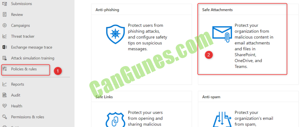 Office 365 Safe Attachments Policy