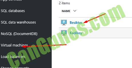 2 items SQL databases SQL data warehouses NOSQL (DocumentDB) Virtual macW Load balancers Besiktas Kadikoy