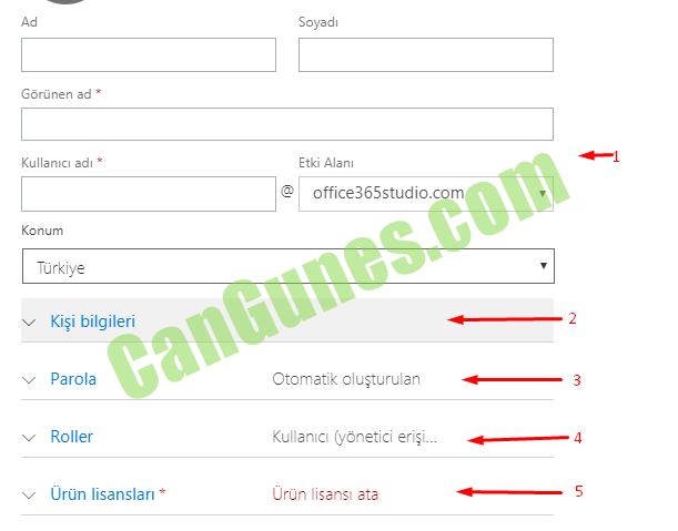 Office 365 Kullanıcı Ekleme