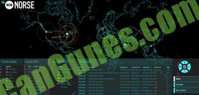 norse cyber attacks tracker map